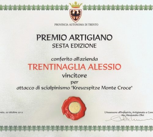 Kreuzspitze vince premio Artigiano 2012
